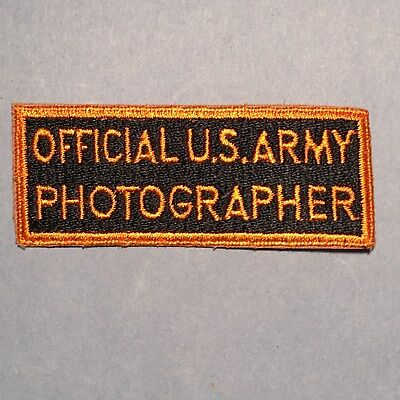 WWII U.S. Army Official U.S. Army Photographer Patch - Fully Embroidered