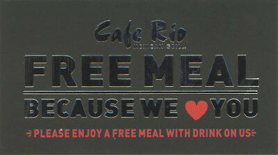3 Cafe Rio Free Meal & Drink Voucher