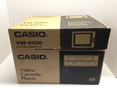 NOS  Casio Car Video Entertainment System. VHS Player & Monitor.