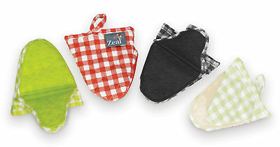 Zeal By CKS Silicone Cotton Hot Grab Kitchen Helper Gingham Check Pattern