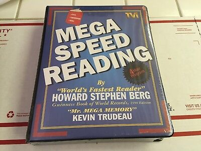 Mega speed reading howard stephen berg kevin trudeau 6 cassettesvhs mega speed reading by howard stephen berg and kevin trudeau malvernweather Image collections