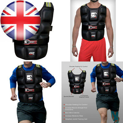 Adjustable Weighted Vest Pro Gym Training Running Weight Loss Fitness Jacket...