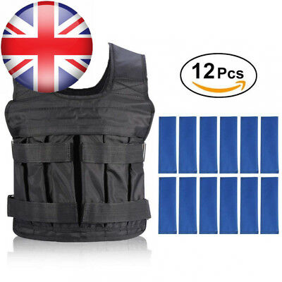 Weight Vests Adjustable Weighted Vest Running Gym Training Jackets Workout...