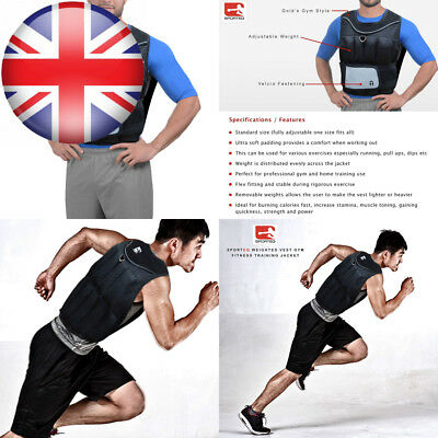 Sporteq 10kg Weighted Vest Running Gym Fitness Weight Loss Training Jacket