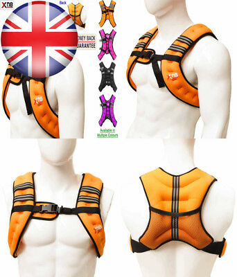 Weighted Vest 8Kg Weight Loss Training Running Adjustable Jacket Removable...
