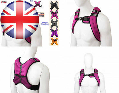 Weighted Vest 5Kg Weight Loss Training Running Adjustable Jacket Removable...