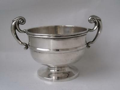 Antique Victorian Chester 1900 Solid Sterling Silver Trophy Cup/ Bowl/ L 10.5cm