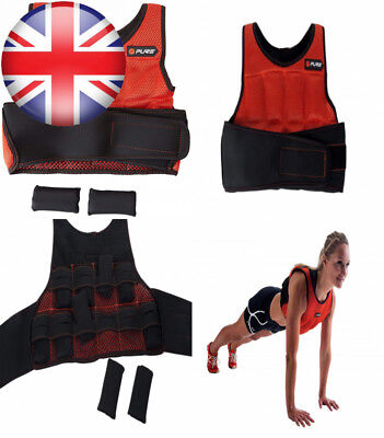 Pure2Improve Unisex Weighted Vest, Red/Black