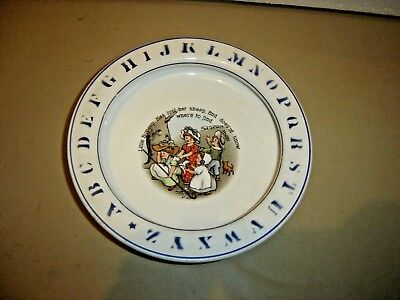 Antique ABC Child's Baby Plate  Little Bo Peep Has Lost Her Sheep 235