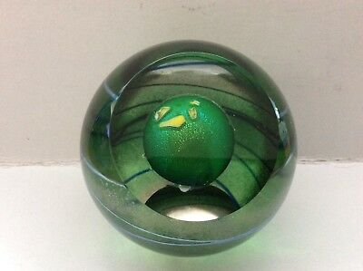 "New Celestial Planet ""Vulcan"" 527F Glass Eye Studio 3 inch paperweight--unsigned"