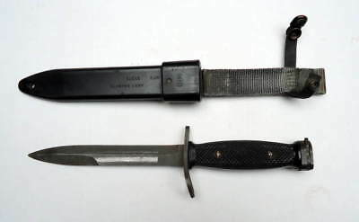 Vintage Military Us M7 Ontario Bayonet With M10 Scabbard Knife #4E