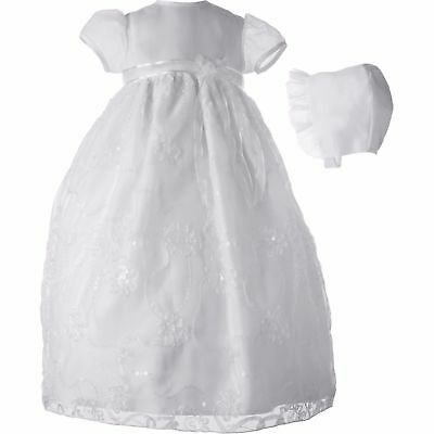 0-3M Christening Baptism Newborn Baby Girl Special Occasion Organza Dress