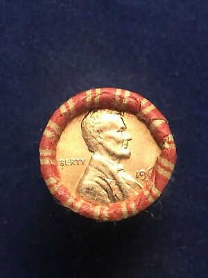 1960-D Original Premium Bu Red Unopened Bankwrapped Lincoln Memorial Roll
