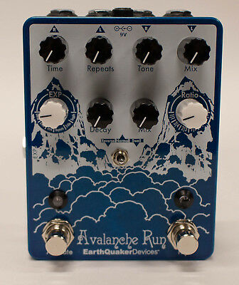 EarthQuaker Devices Avalanche Run V1 Stereo Delay & Reverb Guitar Effect Pedal