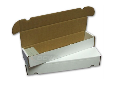 (2) BCW 930 Card Count Storage Boxes Holds Graded Sports Cards & Trading Cards
