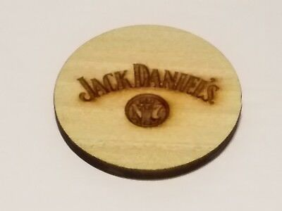 Jack Daniels Wooden Whiskey Barrel Flat Cork Bung Plug with No7 Logo