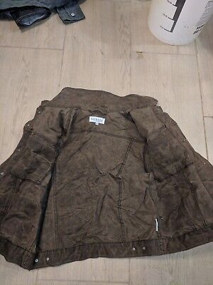 Gustin Original Trucker Jacket Waxed Brown Dark Oak - Size M Excellent Condition