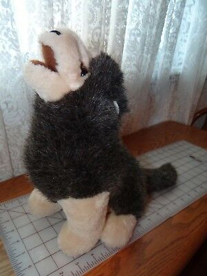 Rare Discontinued Douglas Plush Cuddle Toy nose in air Howling Timber Wolf 17""
