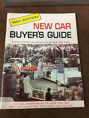 Original 1960 New Car Buyer's Guide 60 Pages Excellent