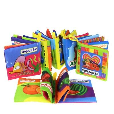 Baby Kid Intelligence Development Cloth Bed Cognize Book Early Educational Toy