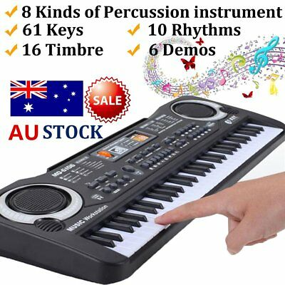 61 Keys Children Musical Instrument Electronic Piano Keyboard 16 Timbre AU JLY