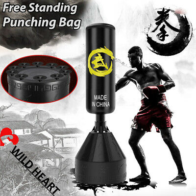 Free Standing 168cm Punching Bag Boxing Gloves Home Gym MMA Target Dummy Kick