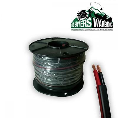 4MM TWIN WIRE CABLE x 30 METRE 30M BATTERY CARAVAN TRAILER 4X4 15 AMP