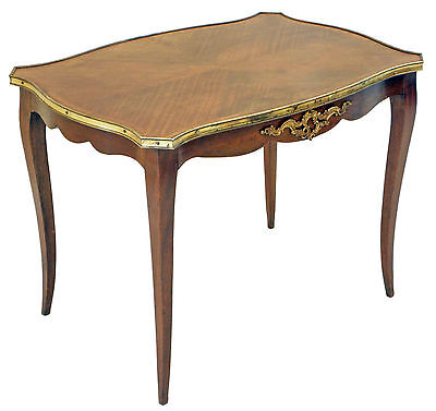 Antique French kingwood and ormolu tea side window writing table