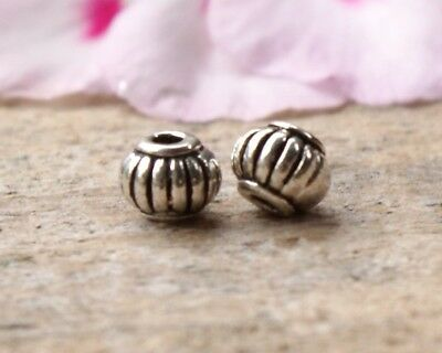 50 Metal Lantern Style Spacer Beads 5mm x 4mm Antique Silver