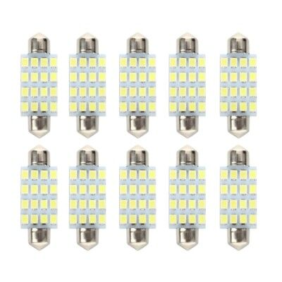 10 PCS 16 Torpedo Car Bulb LED SMD 3528 42 mm - White X6T7