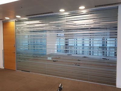 5.64 Metre Wide Toughened Glass Single Office Partition System