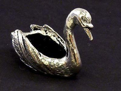 Small Swan English Pewter Pin Cushion by A E Williams Birmingham UK Boxed