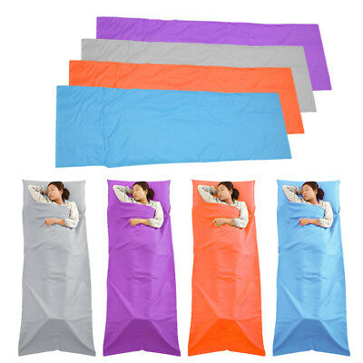 Sleeping Bag Liner Travel Sleep Sack Sheet Hiking Camping Tent Mat Pad HC