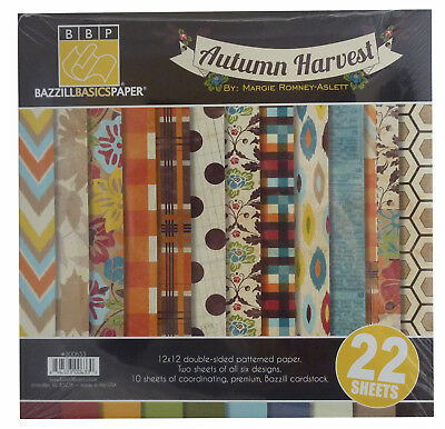Bazzill Basics Autumn Harvest - 22 Sheets - 12x12""