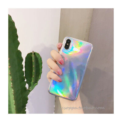 Sketchy Creative Colorful Silicone Rainbow Soft Case For iphone X XS 7 6 8 Plus