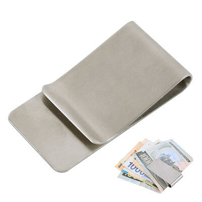 Stainless Steel Silver Money Clip Holder Cash Gift Mens Wedding Favour Gifts UK
