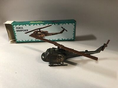 Collectible Pencil Sharpener - Die-Cast Metal - With Box - Helicopter