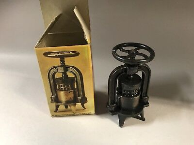 Collectible Pencil Sharpener - Die-Cast Metal - With Box - Squeezer