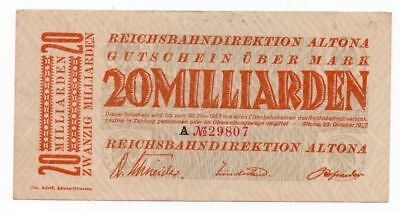 s-h148  Altona, Reichsbahndirektion, 20 Mrd, 23.10.23