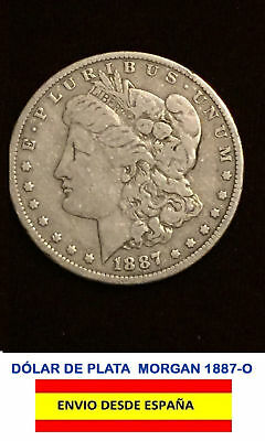 Dolar De Plata Morgan 1887-O Excelente Estado Silver Dollar Morgan 1887-O Usa