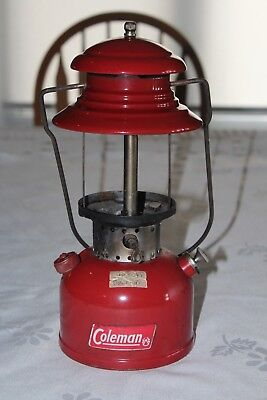 "Coleman Lantern 200  "" Sunshine of the Night 1  65 Coleman Red as found"