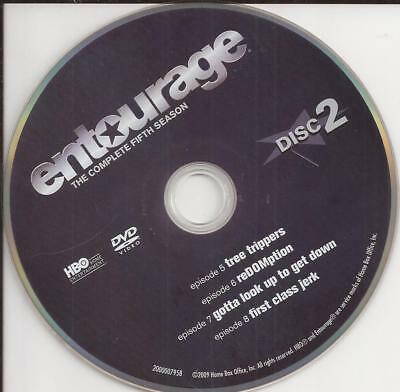Entourage HBO (DVD) Season 5 Disc 2 Replacement Disc U.S. Issue Disc Only