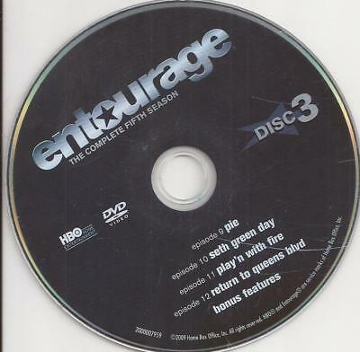 Entourage HBO (DVD) Season 5 Disc 3 Replacement Disc U.S. Issue Disc Only