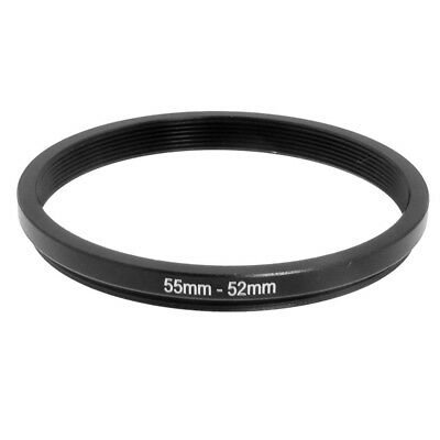 55mm-52mm 55mm to 52mm Black Step Down Ring Adapter for Camera B2L8