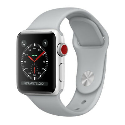 Apple Watch Series 3 38mm Silver Aluminium Case with Fog Sport Band (GPS + 4G)