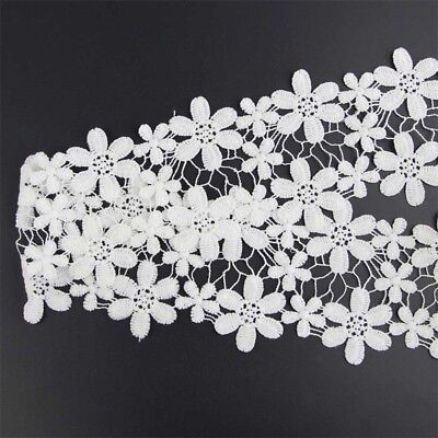 Vintage Style Lace Trims Crochet Off White Flower Wedding Sewing Bridal Ribbon