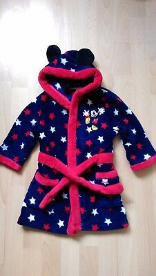 Disney Mickey Mouse Boys dressing gown size  12-18 months