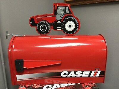Case Ih Rural Style Mailbox With Mx Series Tractor Topper Part# Rmb-Cih220