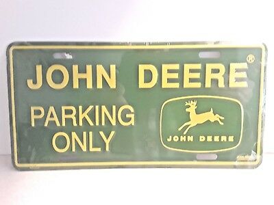 John Deere Parking Only Plate, John Deere Licensed Tag Bottom Right