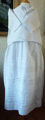 Vintage Baby   Christening Gown/with Jacket And Underskirt